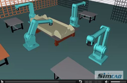 Robot Arm Car Assembly simulation