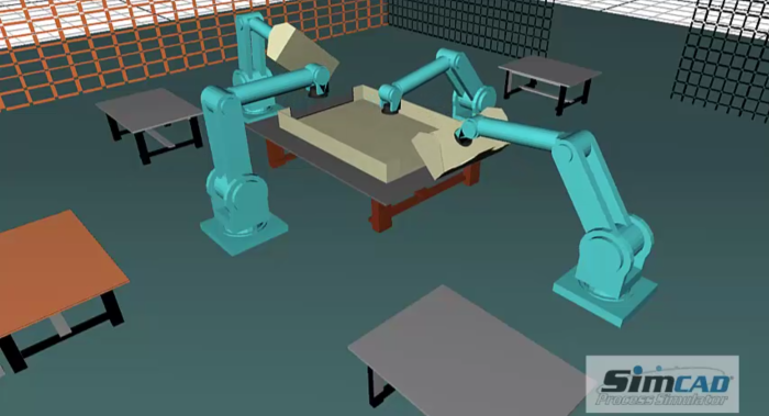 discrete event simualtion for robotics assembly