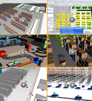 Warehouse Modeling and Simulation Models