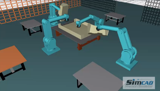 Robot - Car Assembly simulation model