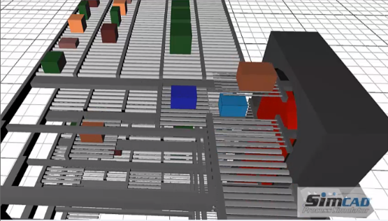 Automated Storage simulation model